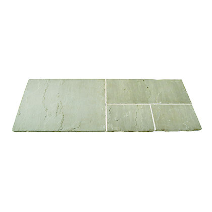 Image for Brett Natural Sandstone Paving Circle with Corners 2.48m 6.15sq m 73 Pack - Mountain Mist from StoreName