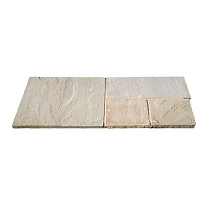 Image for Brett Natural Sandstone Paving Mixed Size Patio Pack 15.37sq m 48 Pack - Forest Glen from StoreName
