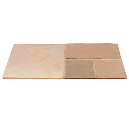 Image for Brett Natural Sandstone Paving Mixed Size Patio Pack 15.37sq m 48 Pack - Sunrise from StoreName