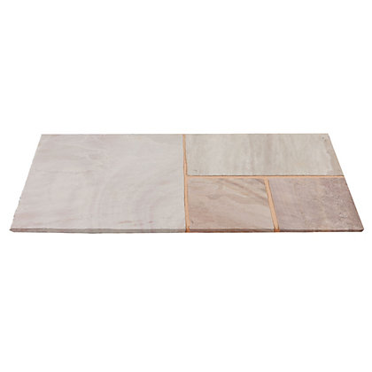 Image for Brett Natural Sandstone Paving Small Mixed Size Patio Pack 7.18sq m 23 Pack - Raveena from StoreName