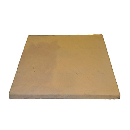 Image for Brett Walton Paving Single Size Patio Pack 600x600mm 11.91sq m 32 Pack - Honey Gold from StoreName