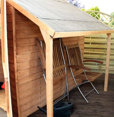 Mercia Wooden Shed Lean To Kit - 8x6ft