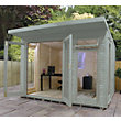 Mercia Wooden Insulated Seagrass Painted Garden Room - 10ft 5in x 11ft 8in (with Installation)