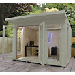 Mercia Wooden Insulated Willow Painted Garden Room - 10ft 5in x 15ft (with Installation)