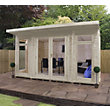 Mercia Wooden Insulated Country Cream Painted Garden Room - 13ft 9in x 11ft 8in (with Installation)