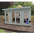Mercia Wooden Insulated Seagrass Painted Garden Room -  13ft 9in x 15ft (with Installation)