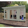 Mercia Wooden Insulated Willow Painted Garden Room - 13ft 9in x 15ft (with Installation)