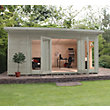 Mercia Wooden Insulated Willow Painted Garden Room - 17ft x 11ft 8in (with Installation)