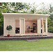 Mercia Wooden Insulated Country Cream Painted Garden Room - 17ft x 15ft (with Installation)