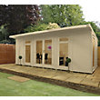Mercia Wooden Insulated Country Cream Painted Garden Room - 20ft 3in x 11ft 8in (with Installation)