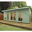 Mercia Wooden Insulated Seagrass Painted Garden Room - 20ft 3in x 15ft (with Installation)