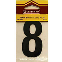 House Number Plate - Black - 8