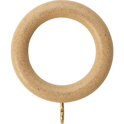 Image for Value Natural Wood 6 pack of Curtain Rings from StoreName
