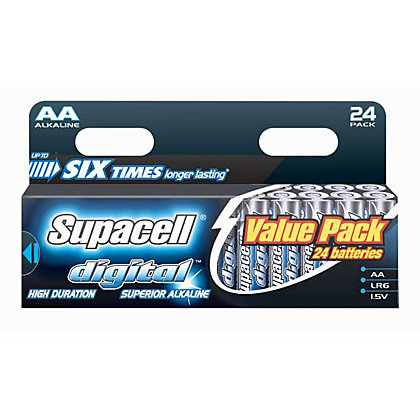 Image for Supacell Digital AA Batteries - 24 Pack from StoreName