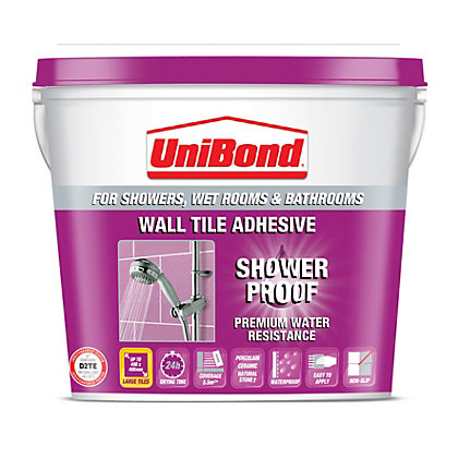 Image for UniBond Shower Proof Wall Tile Adhesive 5L from StoreName