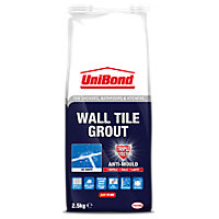UniBond Wall Tile Grout Triple Protect Ice White 2.5kg