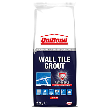 Image for UniBond Wall Tile Grout Triple Protect Ice White 2.5kg from StoreName
