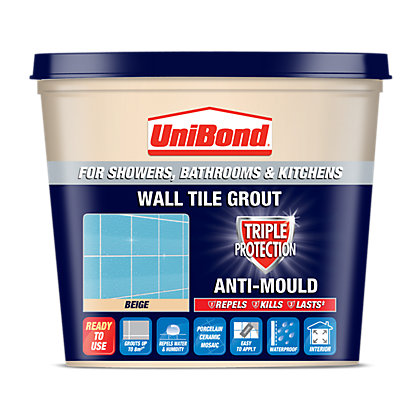 Image for UniBond Anti Mould Tile Grout Beige 1L from StoreName