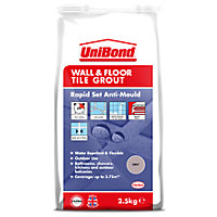 UniBond Floor & Wall Tile Powder Grout Grey 2.5Kg