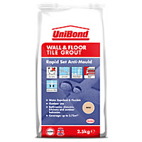 UniBond Floor & Wall Tile Powder Grout Beige 2.5Kg
