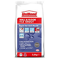UniBond Floor & Wall Tile Powder Grout Black 2.5Kg