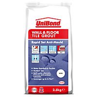 UniBond Floor & Wall Tile Powder Grout White 2.5Kg