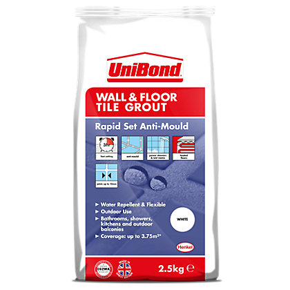 Image for UniBond Floor & Wall Tile Powder Grout White 2.5Kg from StoreName