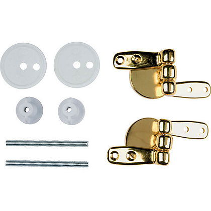 Image for Toilet Seat Hinges - Brass Wooden from StoreName