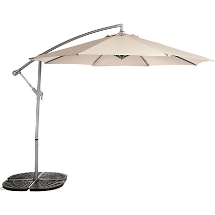 Image for Overhanging Garden Parasol - Cream from StoreName