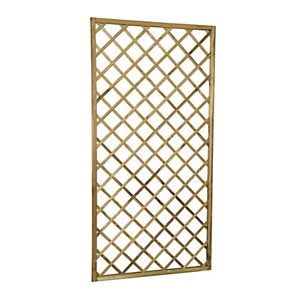 Image for Forest Hidcote Framed Wooden Lattice - 0.9x1.8m from StoreName