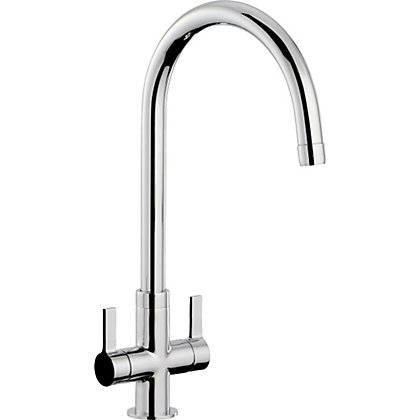 Image for Petite Dual Handle Monobloc Kitchen Tap - Chrome from StoreName