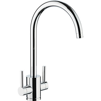 Image for Virgo Dual Handle Monobloc Kitchen Tap - Chrome from StoreName