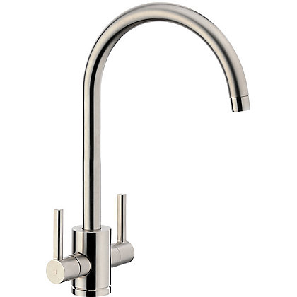 Image for Virgo Dual Handle Monobloc Kitchen Tap - Brushed from StoreName