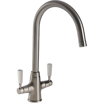 Image for Michigan Dual Handle Monobloc Kitchen Tap - Brushed from StoreName