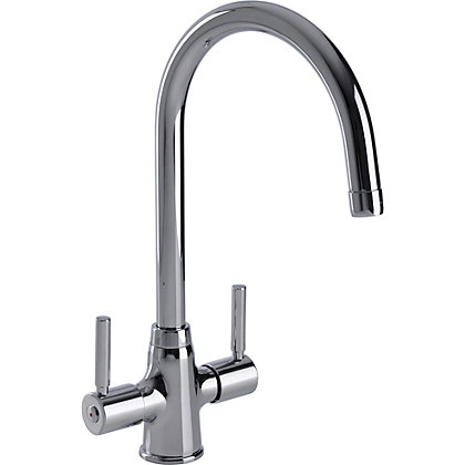 Image for Ontario Dual Handle Monobloc Kitchen Tap - Chrome from StoreName