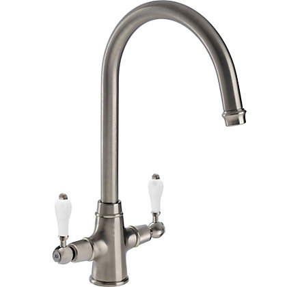 Image for Lavish Dual Handle Monobloc Kitchen Tap - Brushed from StoreName