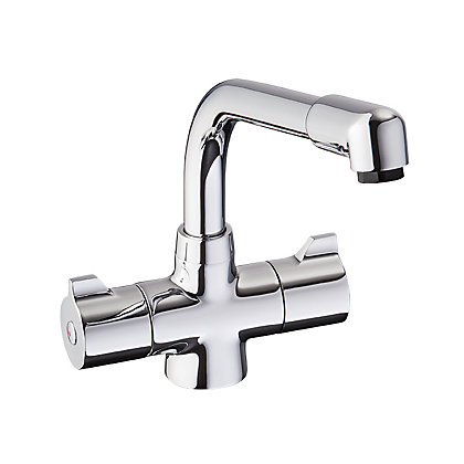 Image for Precise Dual Handle Monobloc Kitchen Tap - Chrome from StoreName