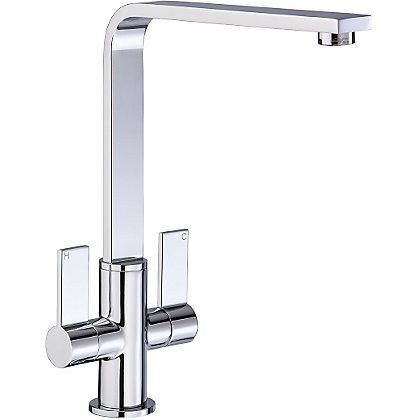 Image for Juxx Dual Handle Monobloc Kitchen Tap - Chrome from StoreName