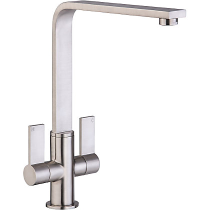 Image for Juxx Dual Handle Monobloc Kitchen Tap - Brushed from StoreName