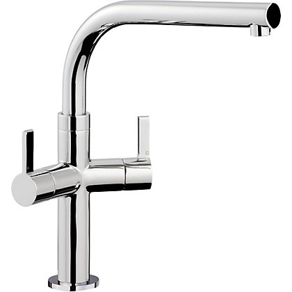 Image for Zeus Dual Handle Monobloc Kitchen Tap - Chrome from StoreName