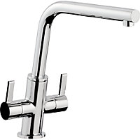 Slanto Dual Handle Monobloc Kitchen Tap -  Chrome