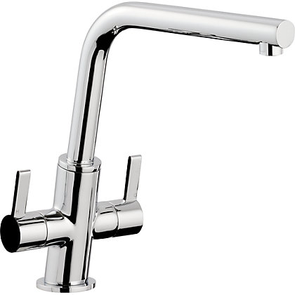 Image for Slanto Dual Handle Monobloc Kitchen Tap -  Chrome from StoreName