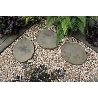 Stylish Stone Timber Stepping Stone
