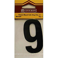 House Number Plate - Black - 9