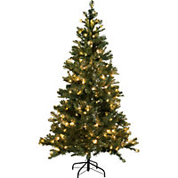 6ft Pre-Lit LED Aspen Christmas Tree