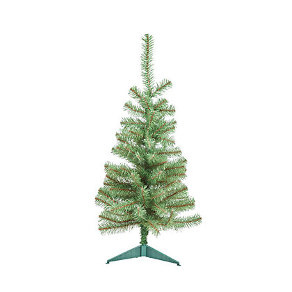 7ft snowy pencil aritifical christmas tree. Black Bedroom Furniture Sets. Home Design Ideas