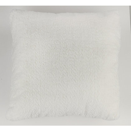 Image for Luxury White Faux Fur Cushion from StoreName