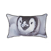 Printed Penguin Cushion