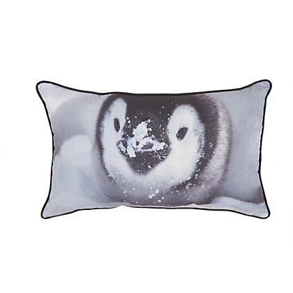 Image for Printed Penguin Cushion from StoreName