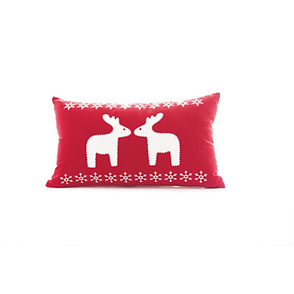 Image for Kissing Reindeer Cushion from StoreName